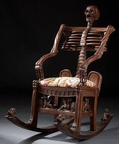 19th century Russia. (1800's) Skeleton rocking chair