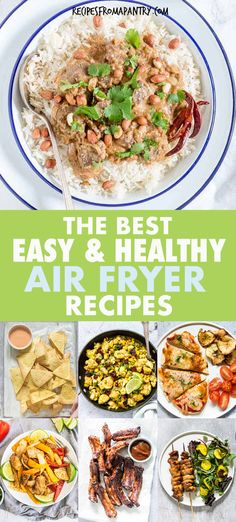 Looking for the best Healthy Air Fryer Recipes that are tasty, quick & easy to make? All the easy air fryer recipes in this collection are under 425 kcal, with most less than 350 kcal! But you'd never know it, since the air fryer recipes are SO delicious. Include chicken recipes, pork recipes, vegetable recipes, fish recipes etc. Eating healthy has never tasted so good! #airfryer #airfryerrecipes #healthyrecipes #easyairfryerrecipes #wwrecipes #airfryrecipes #airfriedfood #airfry #air-fryer Air Fry Recipes, Air Fryer Dinner Recipes, Air Fryer Recipes Easy, Easy Healthy Recipes, Pork Recipes, Lunch Recipes, Appetizer Recipes, Easy Meals, Dishes Recipes