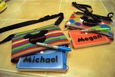 Disney Character Autograph Books ♥ cute idea to use pencil cases!!