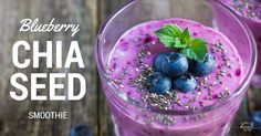 Super Antioxidant Blueberry Chia Seed Smoothie Easy to Prepare Recipe Smoothie Recipes For Kids, Easy Smoothies, Detox Recipes, Fruit Smoothies, Healthy Recipes, Healthy Foods, Vitamix Recipes, Strawberry Smoothie, Healthy Options