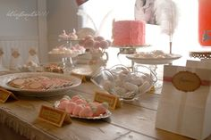 """Photo 1 of 38: Vintage Pink and White Dessert Party / Birthday """"Alice's 1st Birthday"""" 