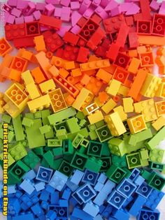 I simply love Lego - but back when I was a child the colours were pretty much limited to red, white, blue, black, yellow and clear - now the possibilities are endless
