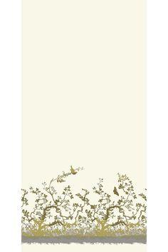 Timorous Beasties Fabric - Birdbranch Velvet Panel fabric