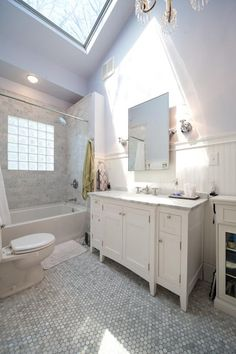 Glass blocks in shower; we're planning on replacing the window in our master bath with glass blocks... very similar to this glass block window in tub/shower