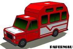 PAPERMAU: Easy-To-Build Classic Motorhome Paper Model - by PapermauDownload Now!
