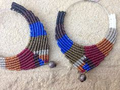 Design Macrame hoop Earrings with Jasper semi by RitaPratesCaetano