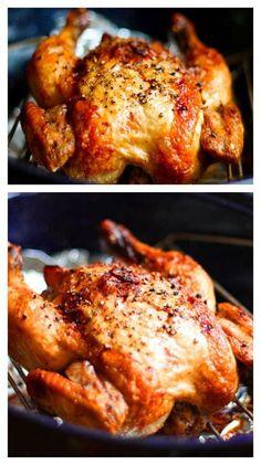 Crispy Roasted Garlic Chicken #protein #lowcarb #savory
