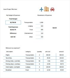 Domestic Touring Budget   Travel Budget Template  Why Using