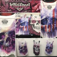 Have you tried out the tank tops! Amazing! Beautiful!  Need one #lethalangel #tanktops #skulls #roses #usa #paint #deadlycombination