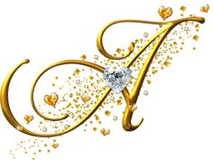 Alfabeto Decorativo: Alfabeto - Ouro e Diamante - PNG