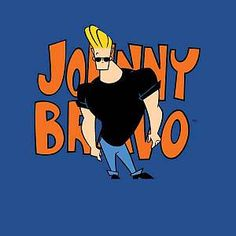 Cartoon Network Johnny Bravo Pose Men's T-Shirt - Royal Blue - XXL - Royal Blue