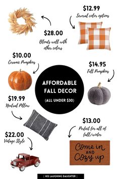 Cute & Affordable Fall Home Decor Fall Home Decor, Autumn Home, Diy Home Interior, Neutral Pillows, Lifestyle Group, Laughing, Blogging, Daughter, Community