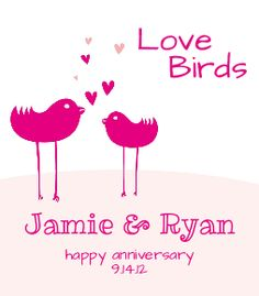 #custom #label #wine #bottle #love #birds #wedding #anniversary #engagement #lovebirds #pink #bottle #your #brand from www.BottleYourBrand.com Love Anniversary, Pink Bottle, Custom Invitations, Love Birds, Label, Husband, Wine, Engagement, Love Sick