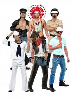 Costumi ufficiali gruppo dei Village People //.vegaoo.it/costumi-ufficiali-gruppo-dei-village-people.html  sc 1 st  Pinterest & 13 Bands That Think Itu0027s Always Halloween   Dresses/ Costumes ...
