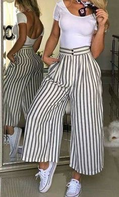 Casual Outfits, Cute Outfits, Fashion Outfits, Womens Fashion, Balloon Pants, Girls Jeans, Work Fashion, Casual Chic, Spring Outfits