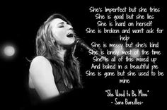 Rambles of an Impatient Girl: Whats Inside (Songs From Waitress) By Sara Bareilles Waitress Musical, Musical Theatre, Kari Jobe, Florence Welch, Pentatonix, Song Quotes, Music Quotes, Imagine Dragons, Frases