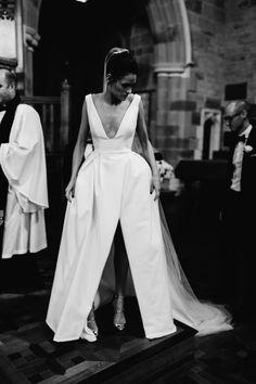 Sexy Leg Split Plunge V-neck Long Satin Wedding Dresses – alinanova sexy leg split long satin wedding dress for bride Luxury Wedding Dress, Princess Wedding Dresses, Perfect Wedding Dress, Formal Wedding, Making A Wedding Dress, Wedding Beach, Wedding Rustic, Boho Wedding, Bridal Gowns