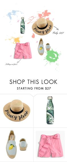 """Color Your Summer"" by bowlinesandlace-1 on Polyvore featuring S'well and J.Crew"