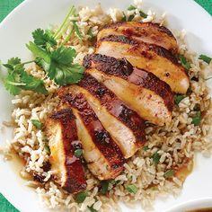 orange chipotle chicken w/cilantro rice (clean eating)