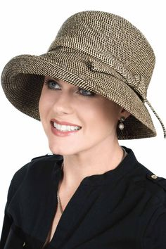 aa720f6ad02 Audrey Brimmed Bucket Sun Protection Hat