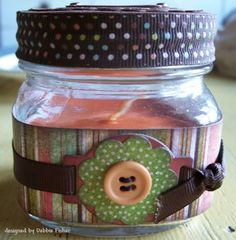 Home made candle ideas for Christmas
