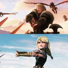 Parellels <-- Oh my goodness I've been waiting for some one to make this! One of my favorite frames of Astrid from Httyd Dragons, Dreamworks Dragons, Httyd 3, Disney And Dreamworks, Hiccup And Toothless, Hiccup And Astrid, Dragon Rider, Dragon 2, How To Train Dragon