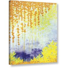ArtWall Herb Dickinson Golden Vines Gallery-wrapped Canvas, Size: 24 x 32, Purple