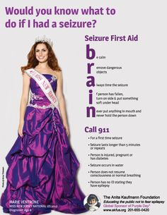 Would you know what to do if she had a seizure? I'm not an epileptic but I have frequent seizures. This is a great poster for anyone who has them. Epilepsy Quotes, Epilepsy Facts, Epilepsy Awareness Month, Temporal Lobe Epilepsy, Epilepsy Seizure, Chronic Illness, Chronic Pain, Seizures Non Epileptic, Conversion Disorder