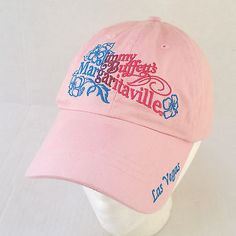 Jimmy Buffett Margaritaville Las Vegas Womens Pink Baseball Hat Cap Jimmy  Buffett Margaritaville 6101b74df6bb