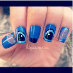 Lilo and Stich nails! #liloandstich #nails