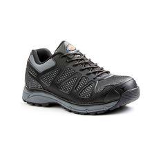 Dickies Fury EXO-Lite Men's Steel-Toe Work Shoes, Size: medium (9.5), Black