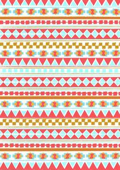 NAVAJO PATTERN Art Print Motif Navajo, Navajo Art, Navajo Pattern, Pattern Art, Pattern Design, Textures Patterns, Fabric Patterns, Color Patterns, Cool Background Designs