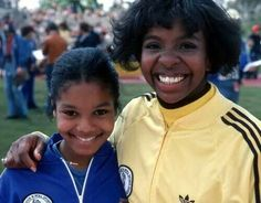 A young Gladys Knight  and Janet Jackson