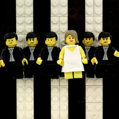 Blondie's Parallel Lines    Album covers recreated in LEGO by Aaron Savage    www.aaronsavage.co.uk