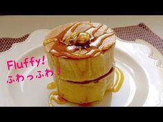 星乃珈琲のパンケーキを再現!ふわっふわパンケーキと絶品キャラメルバターの作り方。DIY How to make fluffy pancake.일본에서 인기가있는 팬케이크 - YouTube