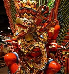 Garuda sculpture. Brought one of these back with me from Indonesia.