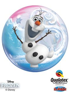 Qualatex created this unique clear Bubble Balloon® featuring Olaf the snowman dancing in the snow. Bring the magic of Frozen to your loved ones with this Disney licensed product! Elsa Birthday Party, 5th Birthday Party Ideas, Disney Princess Birthday, Party Themes, Olaf Frozen, Disney Frozen, Frozen Clips, Anna Und Elsa, Princess Balloons