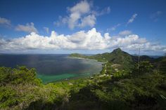 It took a hike to get this view of Union Island on a Mandalay stop, but it was so worth it.
