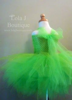 Tinkerbell Tutu Costume Dress  ALL CHILDREN SIZES by LolaJBoutique