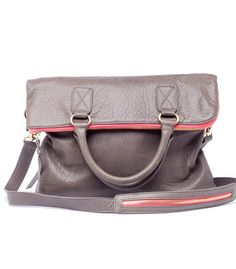 Grey / Pink Foldover bag