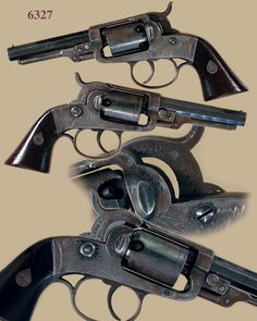 "Josiah Ells ""Double Action"" Percussion Pocket Model Revolver ""3rd Model"":      31 cal. 5-shot, round cylinder, 3-3/4"" oct"