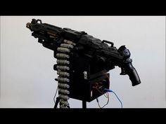 DIY Nerf Vulcan Sentry Gun powered by Arduino Uno, modified to fire 100 rounds at 90m/s!