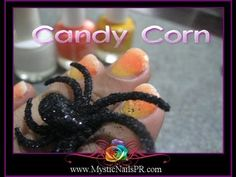 #HALLOWEEN #Candy #Corn #Polish:::... ☆ Jennifer Perez of #Mystic #Nails ☆ #Uñas #Diseños   XOXO Jennifer :)    ::::::::::::::::::::::::::::::::::  LIKE ~ http://www.facebook.com/MysticNails.Fan