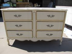Before: French Provincial Dixie Dresser