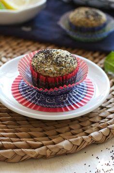 Gluten Free Lemon Poppy Seed Muffins Recipe on FamilyFreshCooking.com photos ©MarlaMeridith.com #breakfast #snack #health