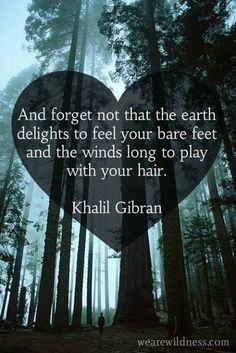 'Forget not that the Earth delights in the feel of your feet .', quote by Kahlil Gibran Great Quotes, Me Quotes, Inspirational Quotes, Qoutes, Story Quotes, Clever Quotes, Wisdom Quotes, Pantheism, Under Your Spell