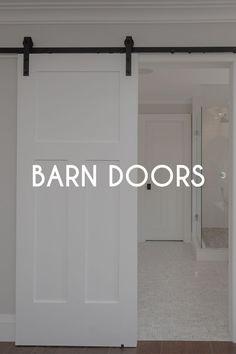 Interior barn door trend. How to make barn doors work for multiple home decor styles including modern and contemporary. Making Barn Doors, Interior Barn Doors, Home Decor Styles, Contemporary, Modern, Garage Doors, Outdoor Decor, Inspiration, Biblical Inspiration