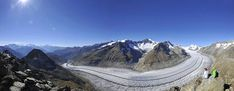 The Great Aletsch Glacier in the Swiss Alps is approximately a winding seven mile stretch and is a vision of primaeval beauty. High up on the Moosfluh, Bettmerhorn and Eggishorn viewpoints is the best place to admire the scale and unique magic of the Great Aletsch Glacier. This huge river of ice that stretches over 23 km from its formation in the Jungfrau region (at 4000 m) down to the Massa Gorge, around 2500 m below, fascinates and inspires every visitor.
