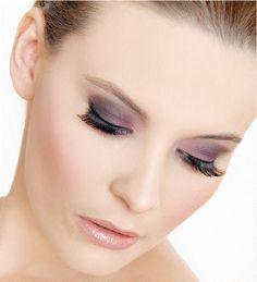 purple bridal make up