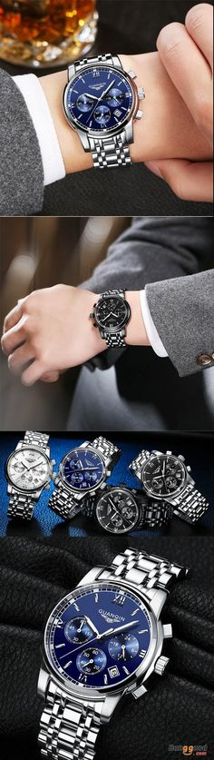 US$37.79 + Free shipping. Men wrist watch, luxury watch, fashion chronograph watch, waterproof watch, full steel quartz watch. 4 Colors to Match Your Style.